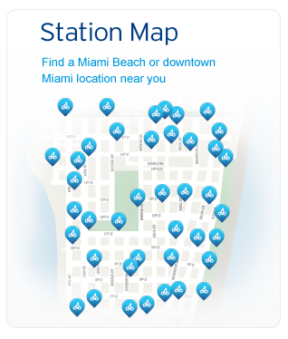CitiBike Miami Station Map